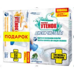 """Туалетный Утенок диски чистоты """"Гигиена и Белизна. Эвкалипт + Цитрус"""""""