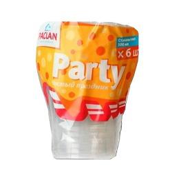 Paclan стакан пластиковый, 500 мл, тон прозрачный, 6 шт