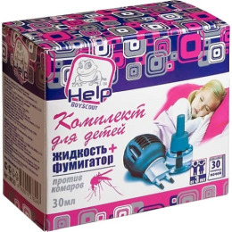 Help комплект для детей фумигатор + жидкость 30 ночей