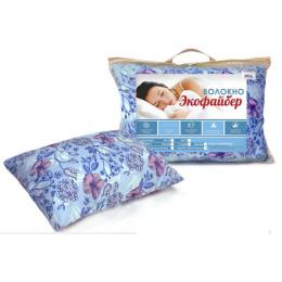 Мягкий сон подушка силиконизированное волокно 70х70 в чемодане, дизайн в ассортименте