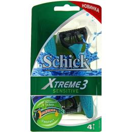 """Schick станок """"Xtreme 3 Sensitive"""" для чувствительной кожи, 4 шт"""