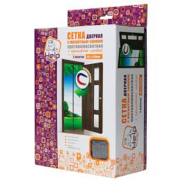Help Boyscout сетка-штора на дверь противомоскитная с магнитным замком и крепежной лентой 45 х 210 см, 2 шт