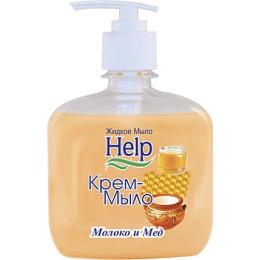 """Help крем-мыло с дозатором """"Молоко и мед"""""""