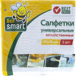 Beesmart салфетки универсальные 35х35 см, 5 шт