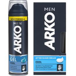 """Arko гель для бритья """"Cool"""" 200 мл + крем после бритья """"Cool"""" 50 мл"""
