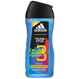 """Adidas шампунь и гель для умывания """"Team Five""""  для мужчин"""