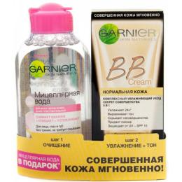 """Garnier набор BB крем """"Секрет Совершенства"""" светло-бежевый 50 мл + мицеллярная вода для чувствительной кожи 125 мл"""