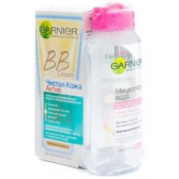 Garnier BB крем натурально-бежевый 50 мл + мицеллярная вода для чувствительной кожи, 125 мл