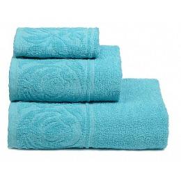 """ДМ Текстиль полотенце """"Цветок"""" махровое 30х70, голубой"""