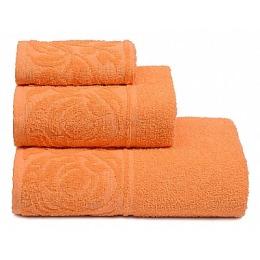 """ДМ Текстиль полотенце """"Цветок"""" махровое 30х70, персик"""