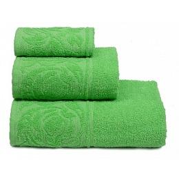 """ДМ Текстиль полотенце """"Цветок"""" махровое 70х130, зелёный"""