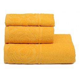 "ДМ Текстиль полотенце ""Цветок"" махровое 70х130, жёлтый"