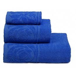 """ДМ Текстиль полотенце """"Цветок"""" махровое 70х130, синий"""