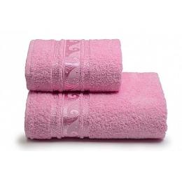 "ДМ Текстиль полотенце ""Elegance"" махровое 50х90, розовый"