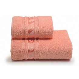 "ДМ Текстиль полотенце ""Elegance"" махровое 70х130, персик"