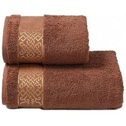 """ДМ Текстиль полотенце """"Alesia"""" махровое 70х130, коричневый"""