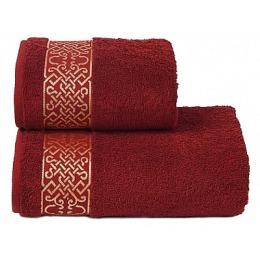 """ДМ Текстиль полотенце """"Alesia"""" махровое 70х130, бордо"""