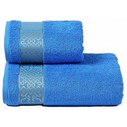 """ДМ Текстиль полотенце """"Alesia"""" махровое 70х130, светло синий"""