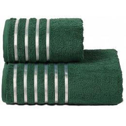 """ДМ Текстиль полотенце """"Tapparella"""" махровое 70х130, тёмно-зелёный"""