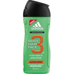"""Adidas гель для душа, шампунь и гель для умывания """"Active Start"""", 250 мл"""