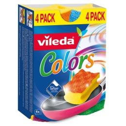 "Vileda губка ""Pure Colors"", 4 шт"