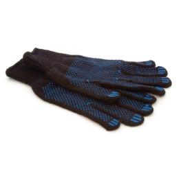 Акцент перчатки хлопчатобумажные, шерсть с ПВХ утепленные, черные