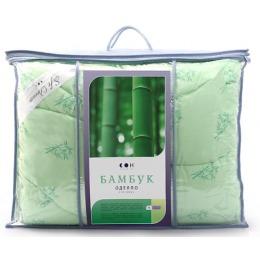 """Мягкий сон одеяло """"Бамбук"""" 200х220 Микрофибра легкое 150г/м2 зеленое"""