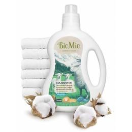"""BioMio средство для стирки """"Bio-Sensitive"""" с экстрактом хлопка без запаха 1,5 л"""