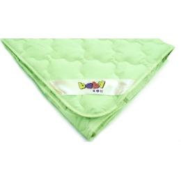 """Мягкий сон одеяло детское """"Бамбук"""" 110 х 140 микрофибра в тубе зеленый"""
