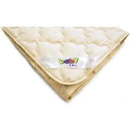 """Мягкий сон одеяло детское """"Шерсть. Бязь. Бежевый"""" 110х140 2-х стороннее стеганое полотно в тубе"""