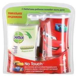 """Dettol диспенсер """"С декоративным элементом М"""" для антибактериального жидкого мыла для рук в комплекте с жидким мылом с алое витамином Е"""