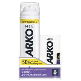 "Arko гель для бритья ""Sensitive"" 200 мл + крем после бритья ""Sensitive"" 50 мл"