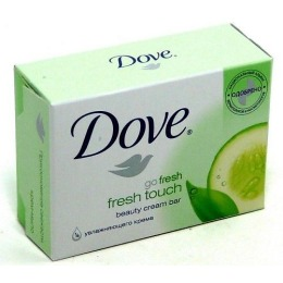"""Dove крем-мыло """"Прикосновение свежести"""", 75 г"""