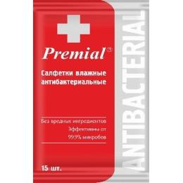 Premial салфетки влажные антибактериальные