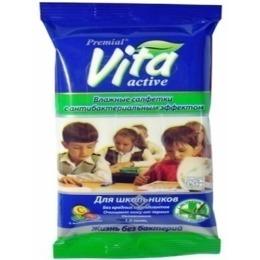 Premial салфетки влажные антибактериальные для школьников
