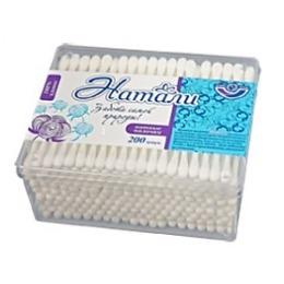 Натали ватные палочки в пластиковой коробке, 200 шт