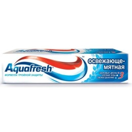 "Aquafresh паста ""3+ Освежающе-Мятная"", 50 мл"