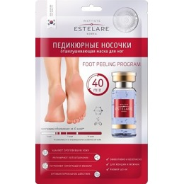 Estelare педикюрные носочки отшелушивающая маска для ног, 40 г