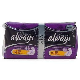 """Always прокладки """"Platinum Collection Light Duo"""" женские гигиенические, 20 шт"""