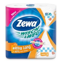 Zewa полотенца бумажные кухонные с рисунком, 2 шт