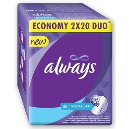 """Always прокладки """"Normal Duo"""" ежедневные женские гигиенические, 40 шт"""