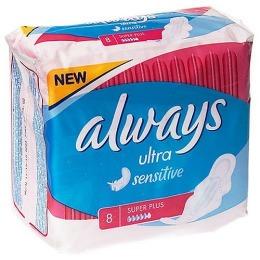 """Always прокладки """"Super Plus Single"""" женские гигиенические, 8 шт"""