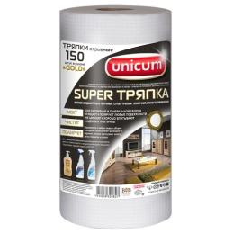 """Unicum тряпка """"GOLD с тиснением Подушечки"""" 25*21 см, 150 шт"""