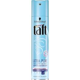 "Taft лак для волос ""Ultra Pure"" супер сильная фиксация без запаха, 225 мл"