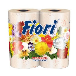 "Aster туалетная бумага ""Fiori"" 3 слойная ароматизированная, персиковая 4 шт"