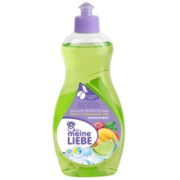 """Meine Liebe гель для мытья посуды """"Манго и освежающий лайм"""" концентрат, 500 мл"""