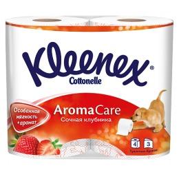 "Kleenex туалетная бумага ""Сочная Клубника"" трехслойная"
