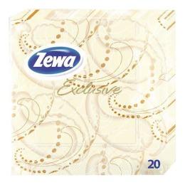 Zewa салфетки эксклюзив 3-ех слойные 33х33см декор желто-черные 20шт