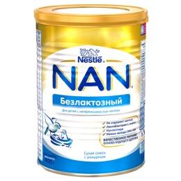 NAN Сухая безлактозная смесь для детей с рождения, 400 г
