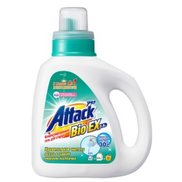 """Attack гель для стирки """"BioEX"""" Концентрированный универсальный (бутылка) , 0,9 кг"""